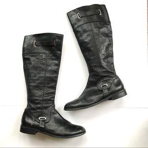 Etienne Aigner women's leather riding boots sz 10